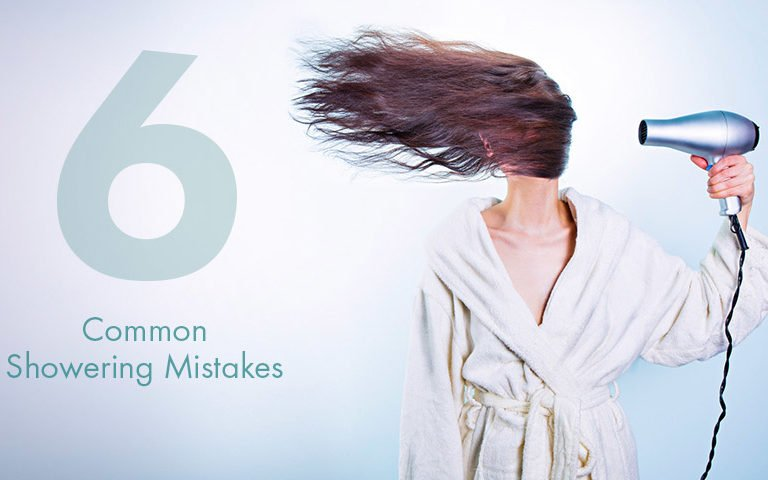 Six common showering mistakes.