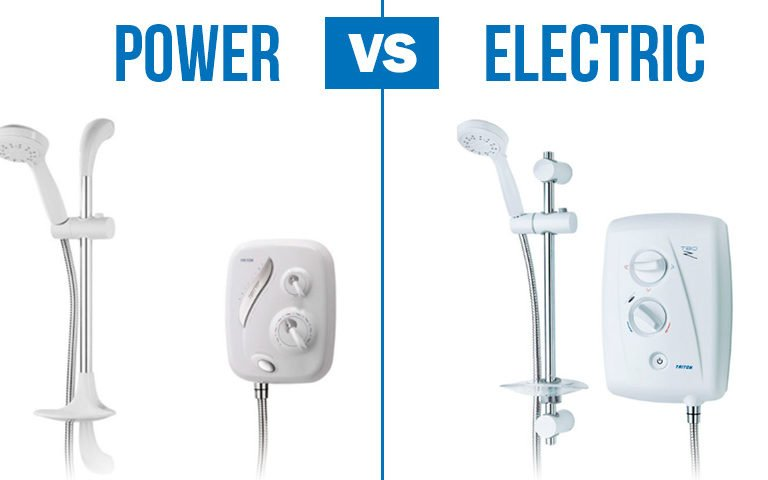 What's the difference between power and electric showers?